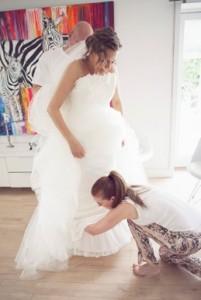 Bryllup fotograf hår