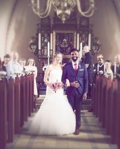 Bryllupsfotograf kirkegulv